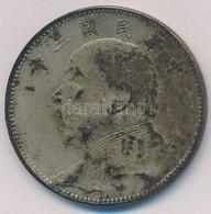 Kína ~1914. 50c Ag 'Yüan Shihkai' (13,4g) T:2,2- Patina China ~1914. 50 Cents Ag 'Yuan Shihkai' (13,4g) C:XF,VF Patina - Coins & Banknotes