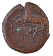 Szicília / Kainon Kr. E. ~360-340. Br érme Előlapján Griff, Hátoldalán Vágtató Ló (7,72g) T:3 Ki. Sicily / Kainon ~360-3 - Coins & Banknotes