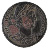 Római Birodalom / Konstantinápoly / II. Constantius 351-355. AE2 (6,02g) T:2,2- K. Roman Empire / Constantinople / Const - Coins & Banknotes