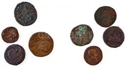 Római Birodalom 8db-os Vegyes Bronz és Rézpénz Tétel, Közte Traianus, I. Philippus, Severus Alexander T:2-,3 Roman Empir - Coins & Banknotes