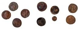 Római Birodalom 10db-os Vegyes Bronz és Rézpénz Tétel, Közte Leginkább Traianus érméi, Benne Hamis Is T:2-,3 Roman Empir - Coins & Banknotes
