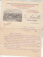 Facture Lettre Illustrée 29/11/1904 PINETTE Fonderie Forge Chaudronnerie  CHALON Sur Saône Et Loire - France