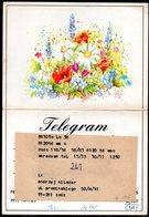 POLAND 1984 TELEGRAM SPECIAL OCCASION FLOWER COMPOSITION FLOWERS PLANTS USED TÉLÉGRAMME TELEGRAMM TELEGRAMA - 1944-.... Republic