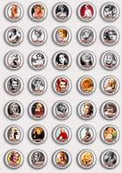 35 X Sandra Dee Movie Film Fan ART BADGE BUTTON PIN SET 1 (1inch/25mm Diameter) - Films