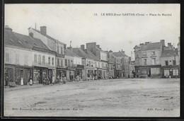 CPA 61 - Le Mesle-sur-Sarthe, Place Du Marché - Le Mêle-sur-Sarthe