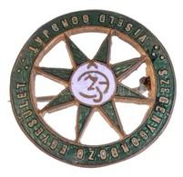 ~1920-1940. 'Szegénygondozó Egyesület - Viseld Gondját' Zománcozott Fém Jelvény (19mm) T:1-,2 - Coins & Banknotes