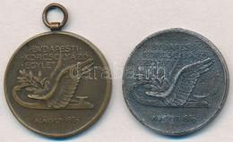 ~1930. 'Budapesti Korcsolyázó Egylet - Alakult: 1869 / Háziverseny' '2x) Br és Ezüstözött Br Díjérem, Az Ezüstözött Fülh - Coins & Banknotes
