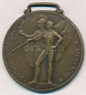 ~1940. 'Gyakorló Gimnázium Sport Köre' Egyoldalas Br Díjérem (30x33mm) T:1- - Coins & Banknotes
