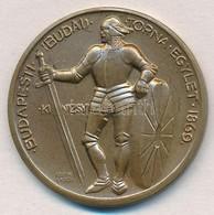 ~1940. 'Budapesti Budai Torna Egylet 1869 - Kinizsy' Kétoldalas Br Emlékérem (33mm) T:1,1- - Coins & Banknotes