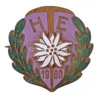 ~1960. 'Miskolci Helyiipari Természetbarát Egyesület (HTE)' Zománcozott Fém Jelvény (23mm) T:2 - Coins & Banknotes