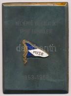 ~1968. 'MVSE - Mélyépítő Vállalatok Sport Egyesülete 1953-1968' Részben Zománcozott Fém Plakett (54x72,5mm) T:2 Hátoldal - Coins & Banknotes