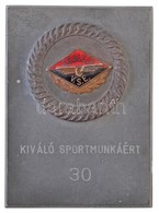 ~1970. 'Ceglédi V.S.E - Kiváló Sportmunkáért - 30' Részben Zománcozott Fém Plakett (53x73mm) T:2 Oxidációs Fo. - Coins & Banknotes