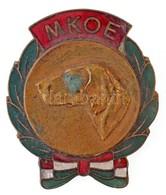 DN 'MKOE (Magyar Kutyatenyésztők Országos Egyesülete)' Zománcozott Fém Jelvény (40x47mm) T:2 Patina - Coins & Banknotes