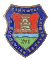 DN 'Cinkotai 12 évfolyamos Iskola és Nevelőintézet' Zománcozott Jelvény (15x18mm) T:1- - Coins & Banknotes