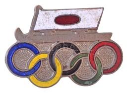 Japán DN 'Téli Olimpia?' Zománcozott Fém Jelvény, Hátoldalán 'O.S.M.K. 1935' (22x15mm) T:2 Japan ND 'Winter Olympics?' E - Coins & Banknotes