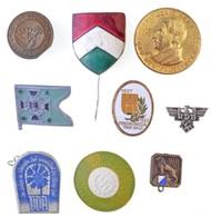 Német Harmadik Birodalom 1933-1939. 33db-os, Többségében Német Jelvény és Kitűző Tétel, Közte 1934. 'Hitler's Dank' Aran - Coins & Banknotes