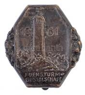 Németország DN 'Rókatorony Társaság 1861' Fém Jelvény, Hátoldalán 'Wernstein Jena' (26x27mm) T:2 Germany ND 'Fox Tower S - Coins & Banknotes