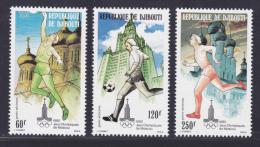 DJIBOUTI AERIENS N°   135 à 137 ** MNH Neufs Sans Charnière, TB (D8209) Jeux Olymîques De Moscuo 1980 - Djibouti (1977-...)