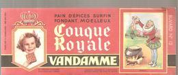 Buvard VANDAMME PAIN D'EPICES Couque Royale Buvard N°12 - Pain D'épices