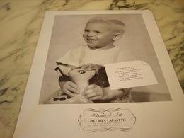 ANCIENNE PUBLICITE STUDIO D ART GALERIES LAFAYETTE 1953 - Publicités
