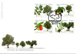 Portugal Euromed 2017 Trees FDC - FDC