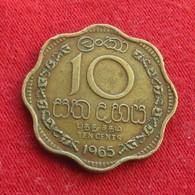 Sri Lanka Ceylon 10 Cents 1965 Wºº - Sri Lanka