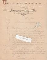 Facture 1926 /JEANNOT DEPILLIER / Outillage Menuiserie / 39 Montmirey La Ville / Jura - France