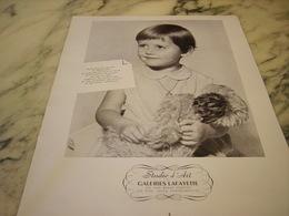 ANCIENNE PUBLICITE STUDIO D ART GALERIES LAFAYETTE 1954 - Publicités