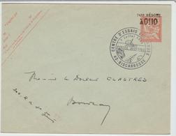 """LANDES: """" CENTRE D'ESSAIS DES LANDES, Journée Portes Ouvertes 1968 / Entier 1900 Réutilisé Tardivement TB - Marcophilie (Lettres)"""