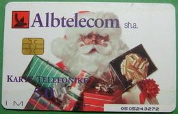 Albania CHIP CARD USED, Operator ALBTELECOM, 50 Units, 2002 - Albania