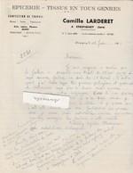 Facture Camille LARDERET / Epicerie Confection / 39 Etrepigney / Jura - France