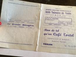 Toulon La Grande Ménagères Société Toulonnaise Des Viande Boucherie Charcuterie Triperie Volaille Café Torréfaction Et B - France