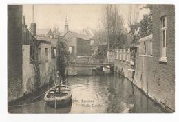 Lessines Barque Sur La Vieille Dendre Carte Postale Ancienne Animée - Lessines