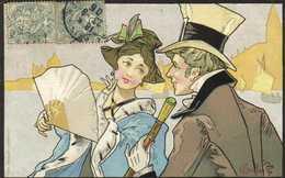 Illustrateur Gottaro Couple Au Bord De Mer RV  Pub PETROLE HANN Le Tresor Des Cheveux - Fancy Cards