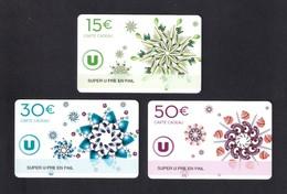 3  Carte Cadeau  SUPER U   PRE EN PAIL (53).    Gift Card. Geschenkkarte - Gift Cards