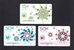 3  Carte Cadeau  SUPER U   PRE EN PAIL (53).    Gift Card. Geschenkkarte - Cartes Cadeaux