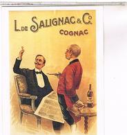 PUBLICITE CPM  COGNAC  L. DE SALIGNAC 1900 - Cognac