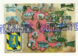 Carte Géographique Du Nivernais. Editions Du LYS. As De Coeur 1982 - Cartes Géographiques