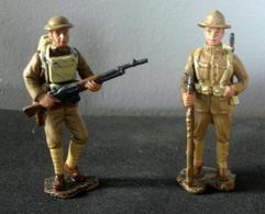 Soldats De Plomb, Armée Des Etats Unies 1918 , 2 Figurines - Soldats De Plomb