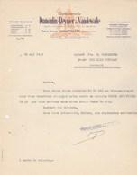 Facture Lettre Illustrée Moulin à Vent 16/5/1933 DUMOULIN REYNIER VANDEWALLE Tissages CHAUFFAILLES  Saône Et Loire - France
