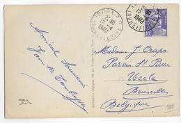 1948 - GANDON - YT N° 718 SEUL Sur CARTE De TOURS (INDRE ET LOIRE) => BRUXELLES (BELGIQUE) - 1921-1960: Moderne