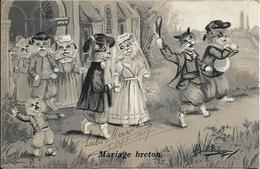 CHATS Mariage Breton.Maurice Boulanger - Cats