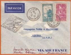 LETTRE. COVER. FIRST FLIGHT FRENCH ALGERIA 1937 - Postzegels