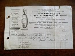 Oude Faktuur 1914   HOLOGERIE  BELGE - Belgique