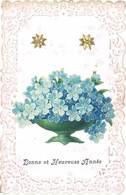 Cpa Fantaisie : Bonne Et Heureuse Année ( Bords Gaufrés, Dentelés ) - Fancy Cards