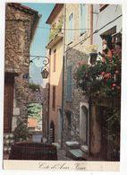 VENCE--1981--Une Vieille Rue Pittoresque (fleurs) --carte Toilée - Vence