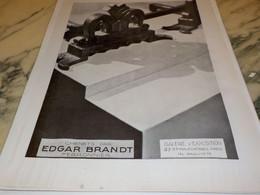 ANCIENNE PUBLICITE MAGASIN LES CHENETS PAR EDGAR BRANDT 1931 - Publicité