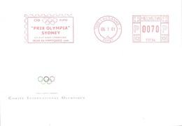 C.I.O POSTMARKET    SUIZA - Juegos Olímpicos