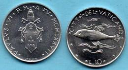 VATICAN  10 Lire 1977  KM#119 - Vatican