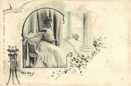 Jack Abeillé 1900N°1350 J.W.H. 1900 Reutlinger Jeune Femme Style Art Nouveau RV - Women
